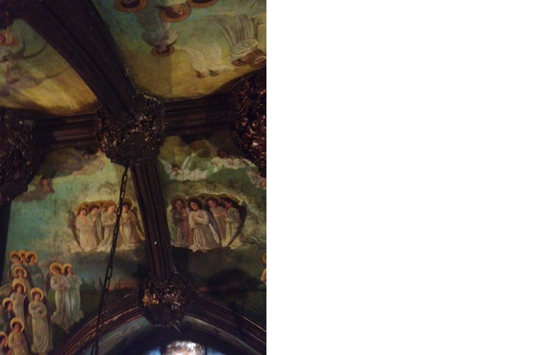 "Church of the Transfiguration aka ""Little Church Around the Corner"".<br />1 East 29th street, New York City<br />Oil on canvas applied to St. Joseph chapel ceiling circa 1905<br />Chapel ceiling before restoration"
