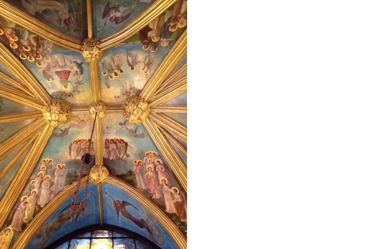 "Church of the Transfiguration aka ""Little Church Around the Corner"".<br />1 East 29th street, New York City<br />Oil on canvas applied to St. Joseph chapel ceiling circa 1905<br />Chapel ceiling completed"